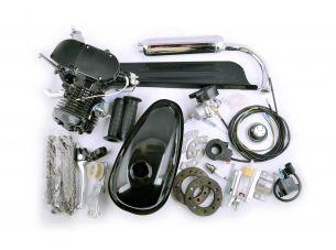 Двигатель велосипедный (в сборе)   80сс   (бак, ручка газа, звезда, цепь, без стартера)   (черный)   EVO