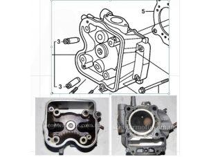 Головка цилиндра   Honda SH150   (голая)  (2013+)    VV