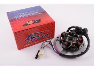Статор генератора   Yamaha JOG 50   (6+1 катушек, 6 проводов)   CYCLER