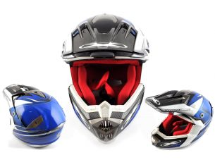 Шлем кроссовый   (mod:435) (size:XL, разноцветный матовый)   X-DRIVE