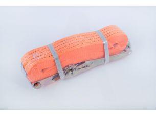 Ремень стяжной с натяжным механизмом 5000кг, оранжевый   LVT
