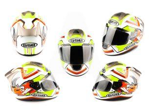 Шлем-интеграл   (mod:G346) (size:XL, белый)   GSB