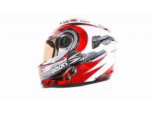 Шлем-интеграл   (mod:B-500) (size:L, черно-серо-белый)   BEON