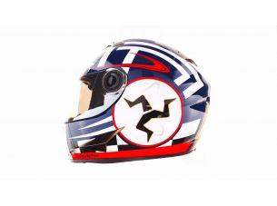 Шлем-интеграл   (mod:B-500) (size:L, черно-красно-белый)   BEON