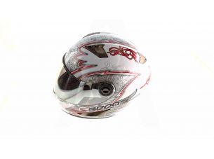 Шлем-интеграл   (mod:B-500) (size:L, бело-черно-синий)   BEON