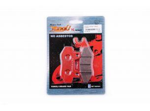 Колодки тормозные (диск)   4T GY6 50-150   (RACE/STORM, ухо лево, красные)   YONGLI