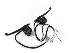 Блоки кнопок руля (пара)   Suzuki AX100   (черные, рычаги, крепление)   XVP