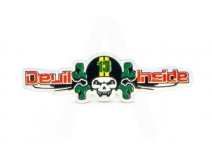 Наклейка   DEVIL INSIDE  (14х5см)
