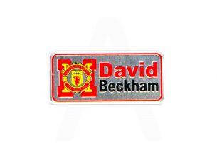 Наклейка   DAVID BECKHAM (16х5см)