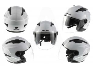 Шлем открытый   (mod:DH958) (size:M, белый)   HELMO