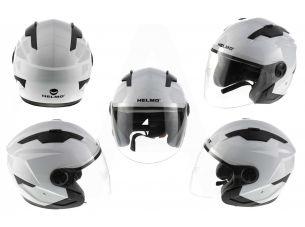 Шлем открытый   (mod:DH958) (size:XL, белый)   HELMO