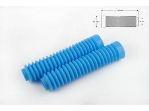 Гофры передней вилки (пара)   универсальные   L-250mm, d-30mm, D-50mm   (голубые)   MZK