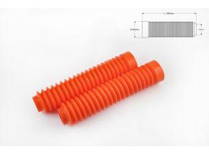 Гофры передней вилки (пара)   универсальные   L-190mm, d-30mm, D-45mm   (оранжевые)   MZK