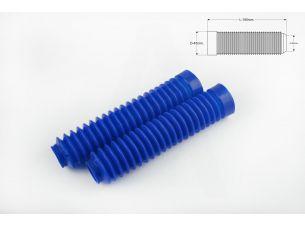Гофры передней вилки (пара)   универсальные   L-190mm, d-30mm, D-45mm   (синие)   MZK