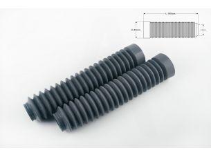 Гофры передней вилки (пара)   универсальные   L-190mm, d-30mm, D-45mm   (серые)   MZK