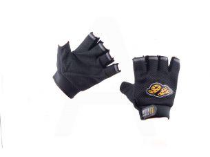 Перчатки без пальцев   GO   (size:M, черные)   46