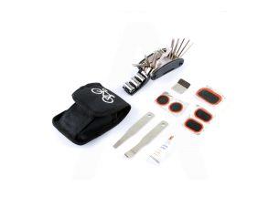 Набор инструмента раскладной (прямоугольные латки, клей, инструмент для разбортировки колес 2 шт, сумка)   XINYU