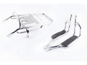 Багажник задний металлический   Delta   (с подножками)   ST
