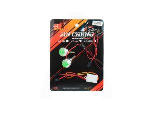 Дневные ходовые огни   (2шт, круглые)   (зеленая, mod:JC-302)   JCAA