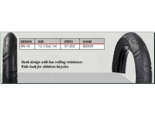 Велосипедная шина   12 * 1/2 * 2 1/4   (57-203)   (SRI-18 короед)   DSI-Шри Ланка   (#LTK)