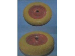 Колесо   3,50 -7   TL   (прессрезина, под ось d-20мм )   (желтое)   MRHD