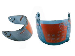 Стекло (визор) шлема-интеграла   (тонированное)   TKD