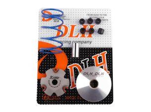 Вариатор передний (тюнинг)   4T GY6 50   (+палец, ролики 6шт, пружина торкдрайвера)   DLH