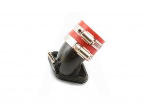 Патрубок карбюратора (коллектор)   4T GY6 50   (железный, красный)   YAOXIN