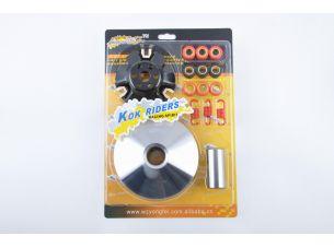 Вариатор передний (тюнинг)   4T GY6 125   (ролики, палец, пружины, скользители)   KOK RIDERS
