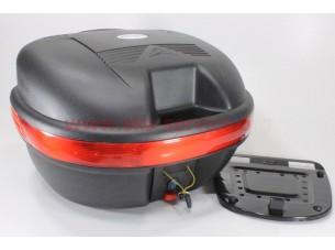 Кофр средний (пластмассовый) 445*385*280мм, крепл. быстросъемное, черный матовый HF-809
