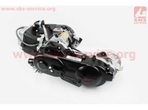 Двигатель скутерный в сборе 4Т-80куб (короткий вариатор, короткий вал)