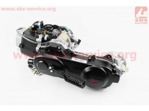 Двигатель скутерный в сборе 4Т-80куб (длинный вариатор, короткий вал)