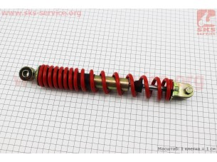 Амортизатор задний GY6/Honda - 290мм*d40мм (втулка 10мм / вилка 8мм), красный
