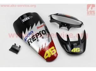 Honda DIO AF-35 пластик - к-кт крашеные 6 деталей, TUNING