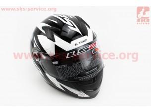 Шлем закрытый DRAZE FF358 XL - ЧЕРНЫЙ с рисунком белым