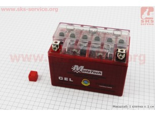 Аккумулятор 9Аh YTX9-BS (гелевый) 150/85/105мм, 2019