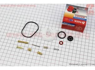 Ремонтный комплект карбюратора, 12 деталей+поплавок 168F/170F