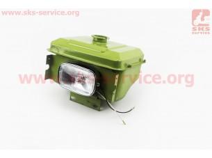 Бак топливный R175A/R180NM, 260x190x165мм, выст. горловина, отверстие под шланг топливный + фара