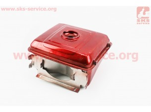 Бак топливный R195NM, 270x250x170мм, пот. горловина, отверстие под шланг топливный