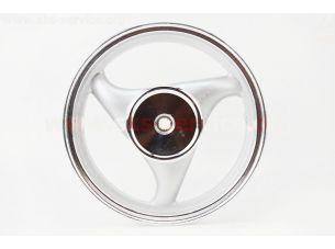 D19 Диск литой задний (бараб. торм. для 50сс4Т-19шлицов)  MT2,5x12, серебристый