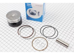 Поршень, палец, кольца к-кт 110сс 52,4мм STD (палец 13мм) тефлоновое покрытие, Japan technology