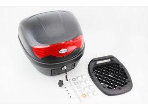 Кофр средний (пластмассовый) 395*395*300мм, крепл. быстросъемное, черный матовый HF-808