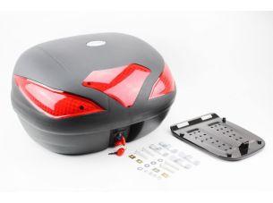 Кофр большой (пластмассовый) 550*420*340мм, крепл. быстросъемное, черный матовый HF-885