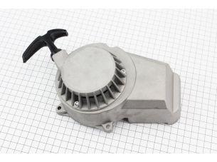 """ATV детский - Крышка двигателя с ручным стартером в сборе (метал """"серый""""), тип. 2"""