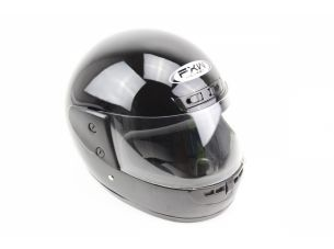 Шлем закрытый HF-101 M- ЧЕРНЫЙ глянец