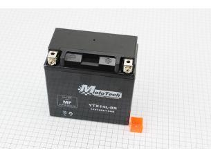Аккумулятор 12Аh YTX14L-BS гелевый (L150*W85*H145mm), 2020