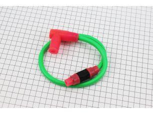 ПРОВОД TUNING к катушкам зажигания (зеленый), 43см + колпачок свечной