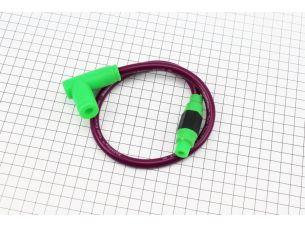 ПРОВОД TUNING к катушкам зажигания (фиолетовый), 43см + колпачок свечной
