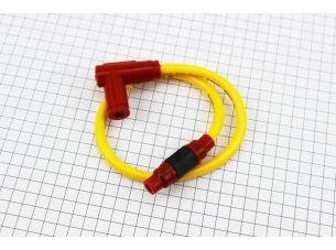 ПРОВОД TUNING к катушкам зажигания (желтый), 43см + колпачок свечной