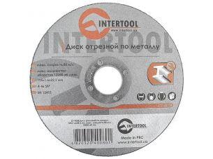 Диск отрезной по металлу 125x1,6x22,2 мм INTERTOOL